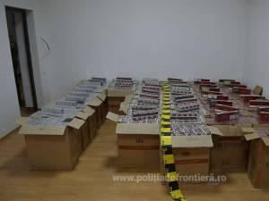 Ţigările, în valoare de aproximativ 296.805 lei, au fost ridicate în vederea confiscării