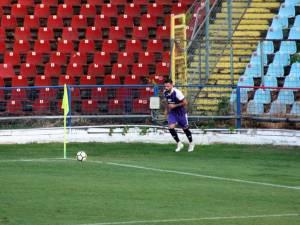 Edi Julei a deschis scorul pentru Şomuz în partida cu FC 2 Botoşani