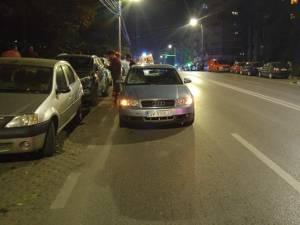 Un grav accident rutier a avut loc luni seară, în jurul orei 19.00, pe strada Mărășești din municipiul Suceava