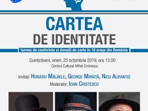 """Horațiu Mălăele, Nicu Alifantis și George Mihăiță vin la Dumbrăveni pentru a lansa """"Cartea de identitate"""""""