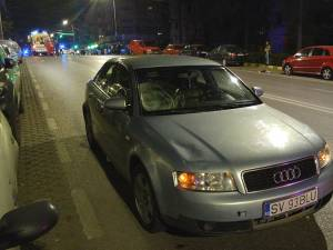 Pietonul traversa din stânga șoferului, deși impactul a fost pe partea dreaptă a mașinii