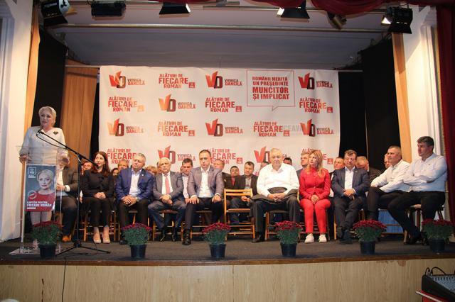 Fălticenenii și-au anunţat sprijinul pentru ca Viorica Dăncilă să câştige alegerile prezidenţiale