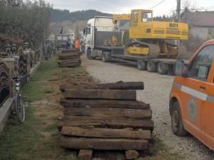 Înlocuirea traverselor de cale ferată îngustă de la Moldoviţa