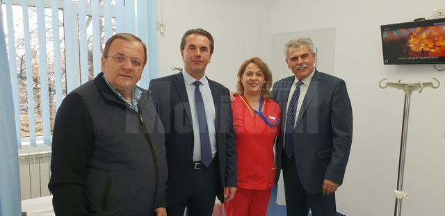 Gheorghe Flutur și Mihăiță Negură au fost prezenţi la inaugurarea compartimentului ATI al Spitalului Municipal Câmpulung Moldovenesc