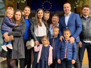 Lucian Harșovschi s-a prezentat la urne alături de întreaga sa familie