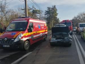 Carambol pe Calea Unirii, provocat de o şoferiţă neatentă