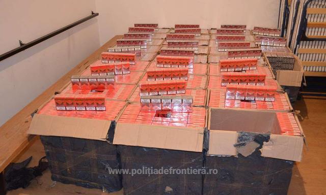Țigările, în valoare de 170.800 de lei, au fost ridicate în vederea confiscării