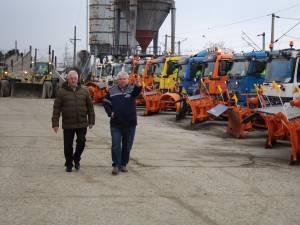 Pregătirile de iarnă ale firmei Diasil, verificate în teren de conducerea Primăriei Suceava 2
