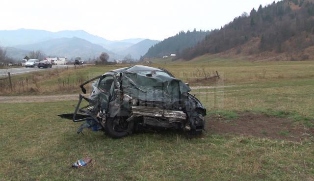 Halul în care a ajuns BMW-ul după impact