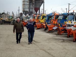 Pregătirile de iarnă ale firmei Diasil, verificate în teren de conducerea Primăriei Suceava