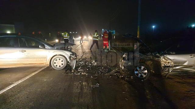 Accident cu trei răniţi, la ieşirea din Suceava spre Moara