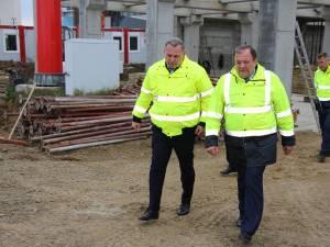 Gheorghe Flutur a verificat lucrările la noul terminal al Aeroportului Suceava