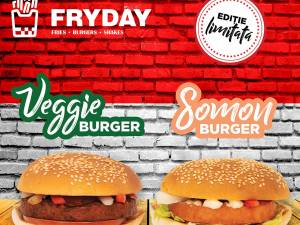 De mâine ai burger SOMON și burger VEGAN la FRYDAY