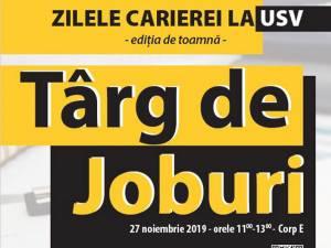 Târg de joburi, săptămâna viitoare, la Universitatea Suceava. Firmele se pot înscrie la eveniment