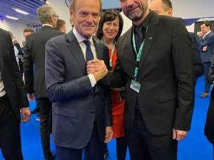 Marian Andronache alături de liderul PPE, Donald Tusk