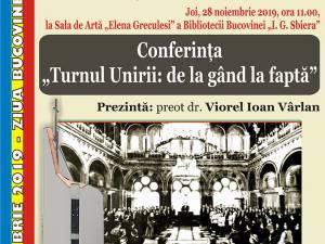 Conferințe și lansare de carte la Biblioteca Bucovinei și la Muzeul de Istorie, de Ziua Bucovinei