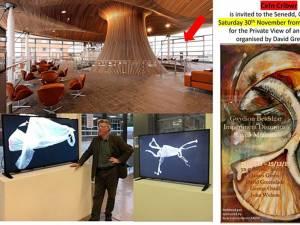 Expoziție dedicată artistului George Ostafi la Galeria de artă de la Parlamentul Galez din Cardiff, Țara Galilor