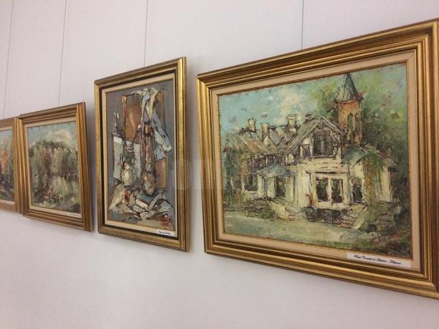 """Expoziţia """"Lumini şi umbre"""", organizată de Grupul Artistic Independent Domino, la Muzeul de Istorie Suceava"""