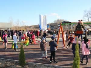 Lucrările la parcul din Adâncata au fost realizate printr-un proiect cu finanţare europeană