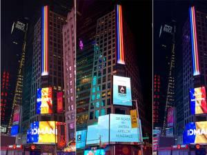 Tricolorul României a strălucit în unul dintre cele mai cunoscute locuri din metropola New York