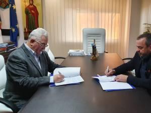 Contractul de asfaltare a străzii care va fi capăt de linie pentru divizia de transport electric a fost semnat miercuri dimineață