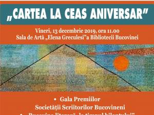 """Gala Premiilor Societăţii Scriitorilor Bucovineni, la Biblioteca """"I.G. Sbiera"""""""