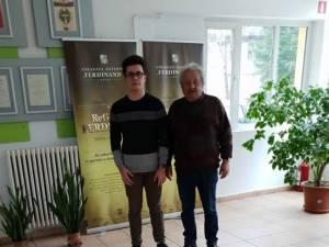David Corneliu Turturean, alături de prof. Sorin Golda