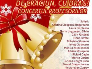 """Concertul profesorilor Colegiului de Artă """"Ciprian Porumbescu"""", marţi, 17 decembrie"""