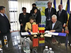 Semnarea Acordului de Cooperare între Municipiul Suceava și Municipiul Yinchuan din China