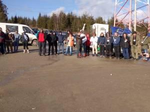 Protest in Pasul Mestecanis, contra punerii în folosință a gropii ecologice de gunoi