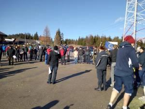 Protest in Pasul Mestecanis, contra punerii în folosință a gropii ecologice de gunoi 2
