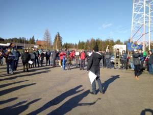 Protest in Pasul Mestecanis, contra punerii în folosință a gropii ecologice de gunoi 3