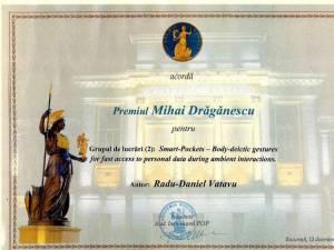 Cercetătorul sucevean Radu Daniel Vatavu, laureat al Academiei Române