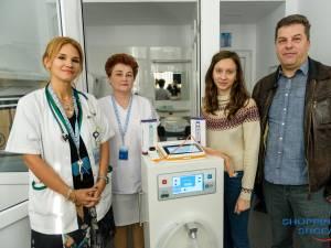 Secția de Pediatrie a fost dotată cu patru aparate medicale, în valoare totală de 13.000 de euro, în urma unei sponsorizări făcută de Shopping City Suceava 2