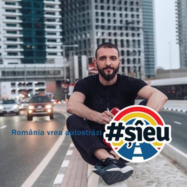 Ştefan Mandachi este iniţiatorul protestului România vrea autostrăzi - #ŞîEu