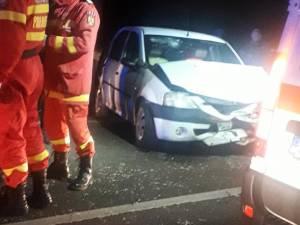 Dacia Logan implicată în accident