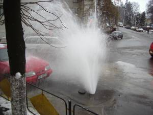 Avarie la reteaua de apa rece a ACET