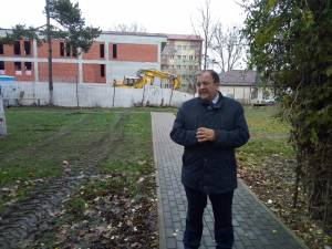 Preşedintele CJ Gheorghe Flutur la viitorul institut oncologic
