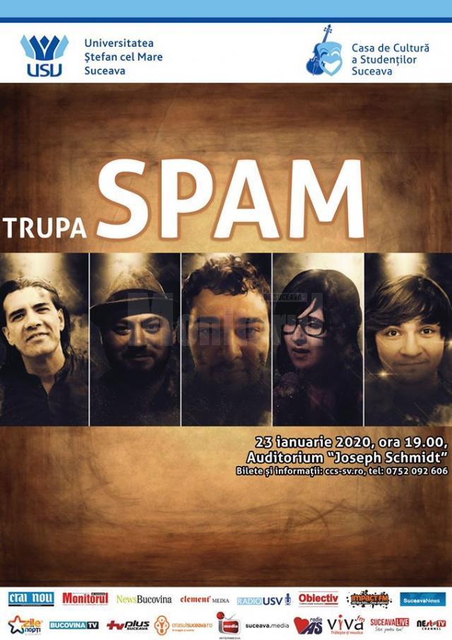 """Trupa pop-rock """"Spam"""" concertează la Universitate"""
