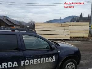 Control demarat de Garda Forestieră Suceava la firma fiului unui consilier al instituției, amendată pentru transport ilegal de cherestea