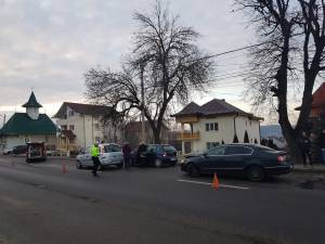 Accident cu patru maşini la ieşirea din Suceava spre Plopeni