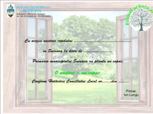 """""""Primul arbore al vieții"""" – plantare de arbori pentru fiecare copil născut în Suceava"""