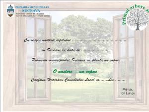 """Certificatul """"Primul arbore al vieţii"""""""