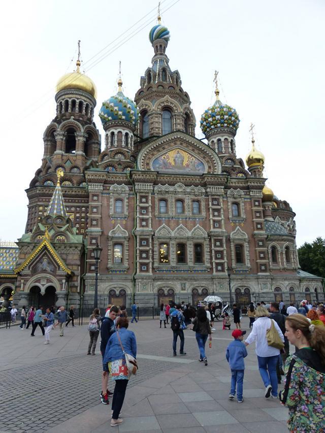 Catedrala Mântuitorului pe Sângele Vărsat, construită pe locul unde a fost asasinat țarul Alexandru al II-lea