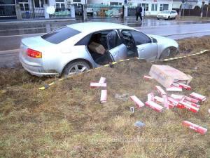 Ţigările, în valoare de 11.817 lei, au fost ridicate în vederea confiscării, iar autoturismul a fost indisponibilizat