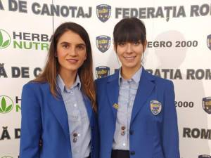 Ionela Lehaci-Cozmiuc şi Geanina Beleagă sunt cele mai importante canotoare din Suceava