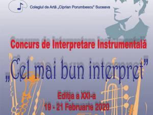"""Concursul de Interpretare Instrumentală """"Cel mai bun interpret"""", la Colegiul de Artă Suceava"""