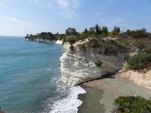 Peisaj cu plajele din apropiere de Limasol