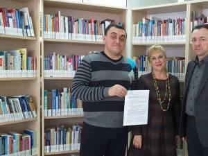 """Primul protocol de colaborare între Biblioteca Bucovinei """"I. G. Sbiera"""", Biblioteca USV și Societatea Bibliotecarilor Bucovineni din Cernăuţi"""