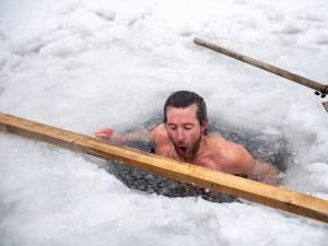 Sergiu, omul de zăpadă